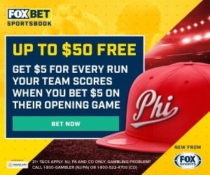 FOX Bet MLB Opening Day Promo – Pirates and Phillies Free $50 Bet